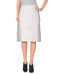 Gotha Skirts Knee Length Skirts Women White