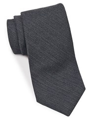 Brooks Brothers Herringbone Textured Tie Grey