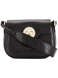 Emporio Armani Twist Lock Cross Body Bag Black