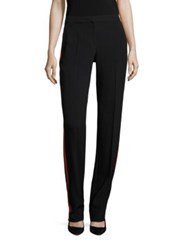 Boss Midrise Straight Leg Trousers Black