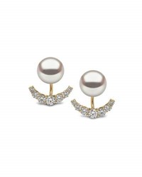 Yoko London 18K Yellow Gold Pearl And Diamond Jacket Earrings