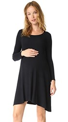 Ingrid And Isabel Trapeze Sweatshirt Dress Jet Black Rib