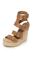 Pedro Garcia Tex Wedge Sandals Cigar