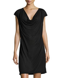 Cosabella Cocoon Drape Front Slip Dress Black
