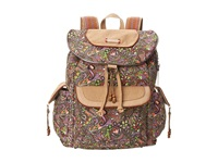 Sakroots Artist Circle Flap Backpack Lavender Spirit Desert Backpack Bags Brown