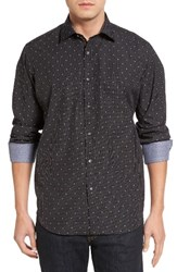 Bugatchi Men's Classic Fit Dobby Grid Sport Shirt