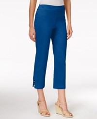 Jm Collection Petite Pull On Capri Pants Only At Macy's Blue Steel
