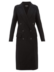 Ann Demeulemeester Cappotto Double Faced Wool Blend Coat Black