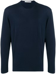 Covert Crew Neck Sweater Blue
