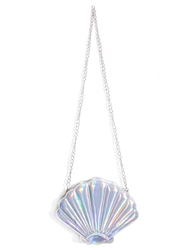 Pixie Market Seashell Hologram Crossbody Bag