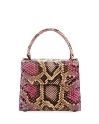 Nancy Gonzalez Python Small Top Handle Crossbody Bag Multi