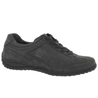 Gabor Tote Extra Wide Fit Lace Up Trainers Anthracite