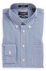 Nordstrom Men's Big And Tall Men's Shop Classic Fit Non Iron Gingham Dress Shirt Navy Patriot