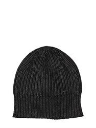 Diesel Coated Cotton Knit Beanie Hat