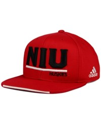 Adidas Northern Illinois Huskies Travel Flat Brim Snapback Cap Red