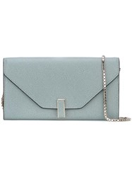 Valextra Chain Strap Clutch Blue