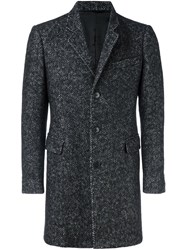 Dondup Tweed Coat Black
