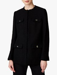 Jaeger Long Tweed Jacket Black