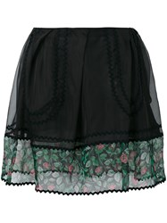 Coach Sheer Detail Mini Skirt Black