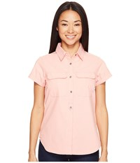 Columbia Pilsner Peak Novelty Short Sleeve Shirt Lychee Dobby Women's Short Sleeve Pullover Pink