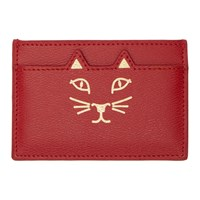 Charlotte Olympia Ssense Exclusive Red Feline Card Holder