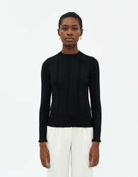 Farrow Celeste Textured Knit Top In Black Size Extra Small