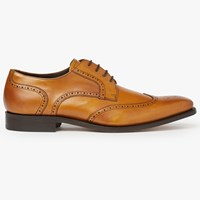Barker Jordan Wingtip Leather Derby Shoes Cedar