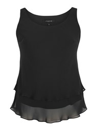 Chesca Double Layer Chiffon Camisole Black