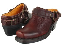 Frye Belted Harness Mule Chestnut Leather Women's Boots Brown