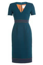 Roksanda Ilincic Tailored Sheath With Banded Waist Blue