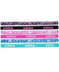 Adidas Fighter Hairbands 6 Pack Pink Grey White