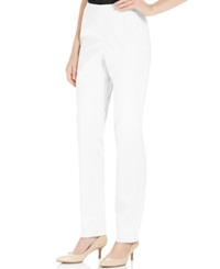 Charter Club Petite Sateen Side Zip Ankle Pants Bright White