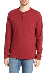 Vintage 1946 Negative Slub Long Sleeve Henley Biking Red