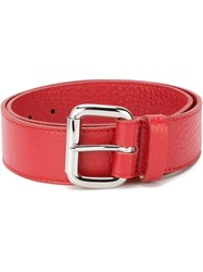 Orciani Square Buckle Belt Red