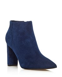 Ivanka Trump Kalyn Pointed Toe High Heel Booties Navy