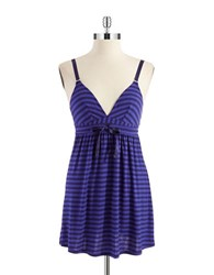 Splendid Metallic Striped Chemise Blue Stripe