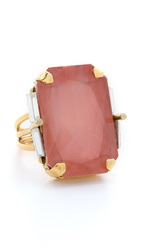 Erickson Beamon Cocktail Ring Pink