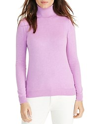 Ralph Lauren Stretch Silk Turtleneck Sweater Hyacinth
