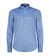 Boss Cotton Oxford Shirt Blue