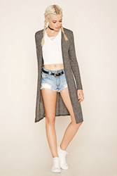 Forever 21 Ribbed Longline Cardigan