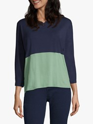 Betty And Co. Colour Block Top Blue Green