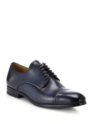 Bally Lausanne Leather Derby Shoes Navy