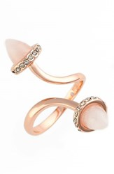 Women's Rebecca Minkoff 'Acorn' Twist Ring Rose Gold