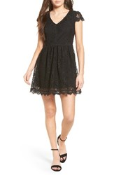 Speechless Women's Lace Fit And Flare Dress