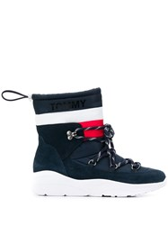 Tommy Jeans Padded Drawstring Boots Blue