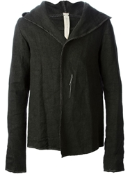 A Diciannoveventitre Open Front Hooded Jacket Grey