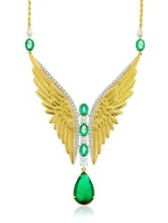 Mariana Gorga Angel's Wings Green Beauty Necklace