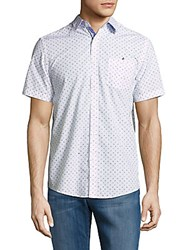 Report Collection Casual Button Down Cotton Shirt White