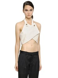J.W.Anderson Cotton Drill Wrap Style Crop Top