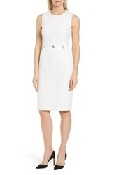Boss Duleama Compact Twill Dress Vanilla Light